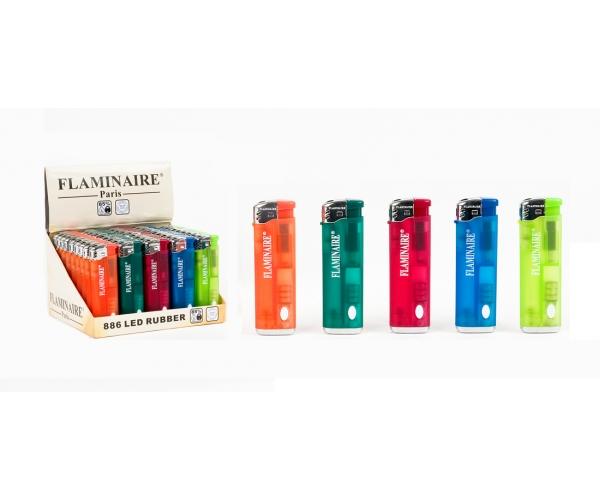 Accendino Flaminaire 886 RUBBER CON LED PIEZO