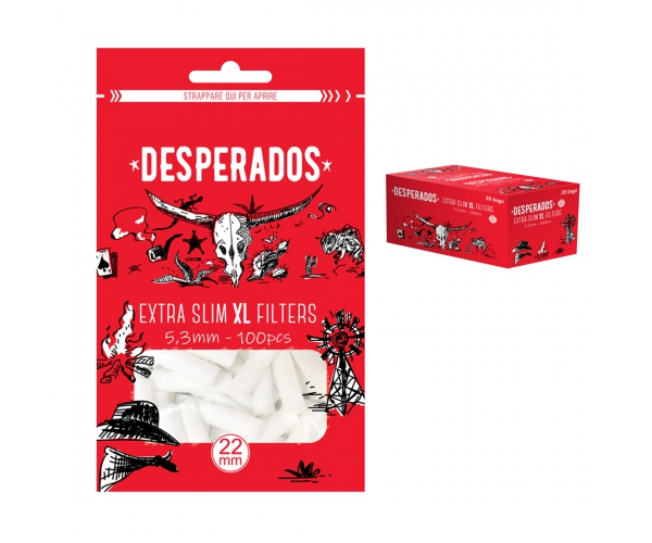Filtri DESPERADOS Extra Slim 5,3 mm XL 22mm